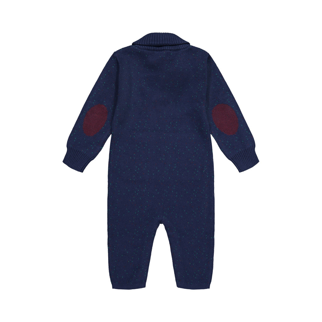 Navy Toggle Romper - Andy & Evan
