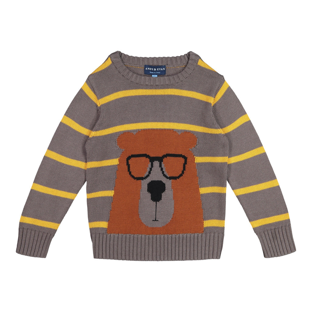 Striped Bear Sweater - Andy & Evan