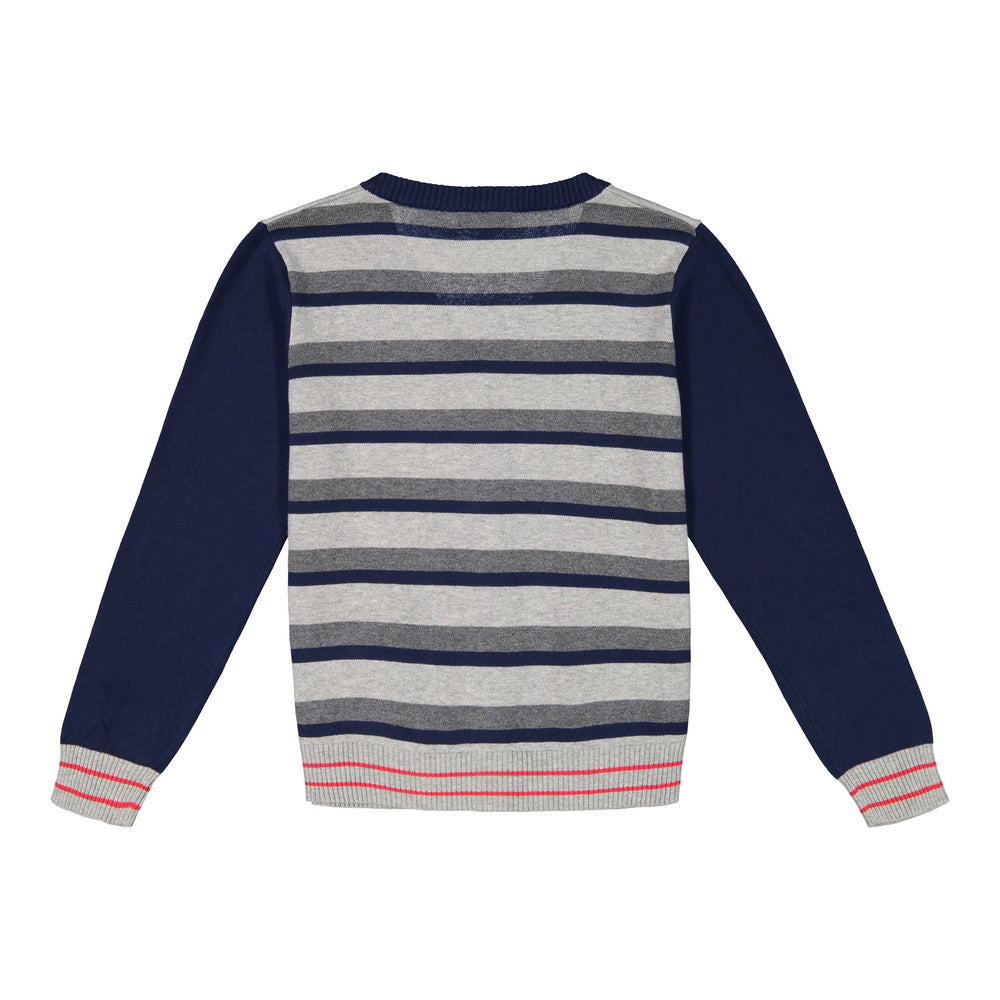 Striped Varsity Cardigan - Andy & Evan