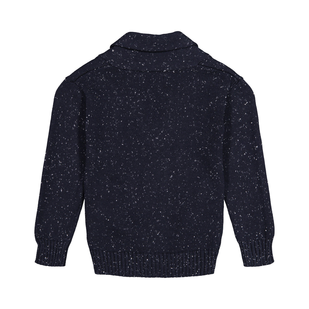 Slub Navy Toggle Cardigan - Andy & Evan
