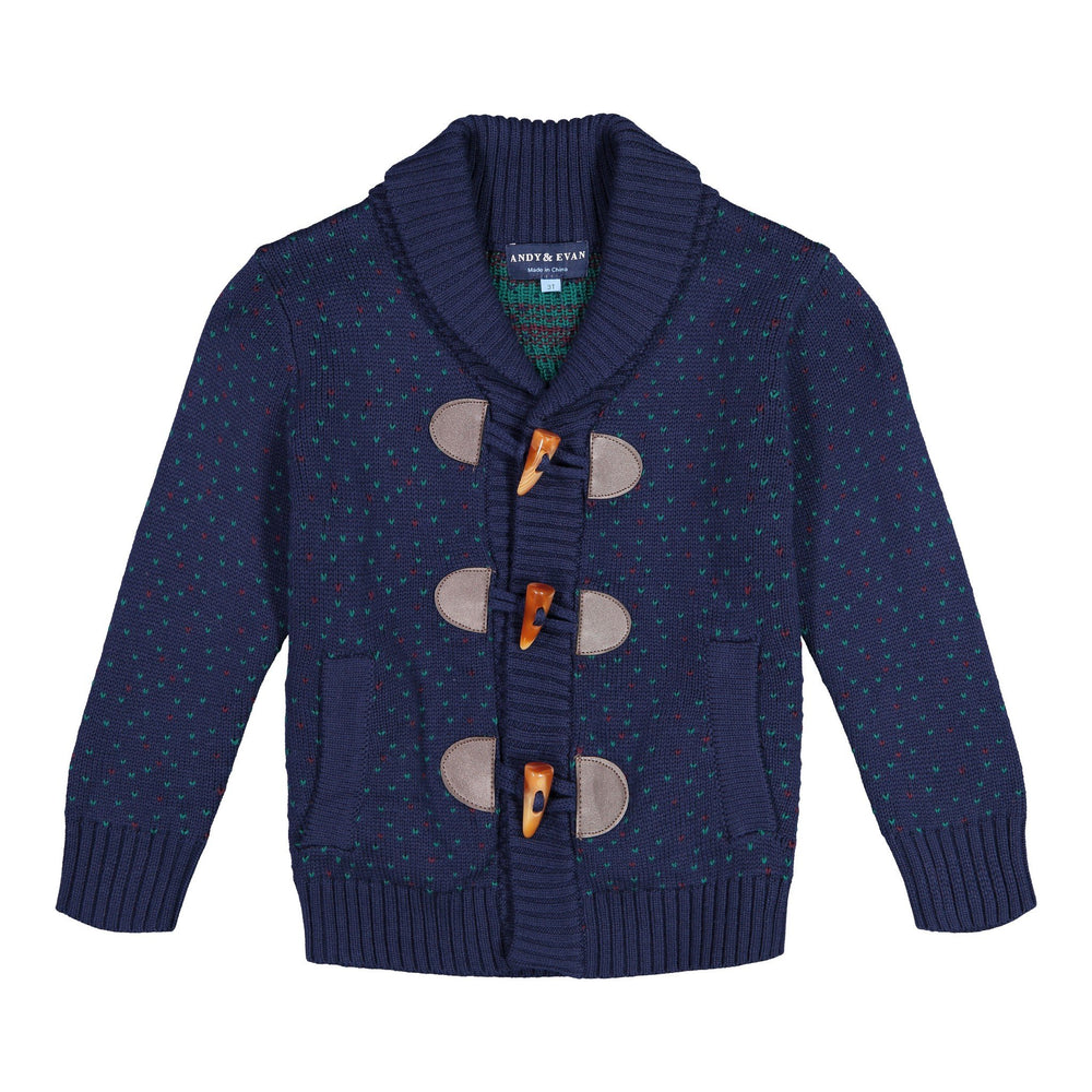 Navy Toggle Cardigan - Andy & Evan