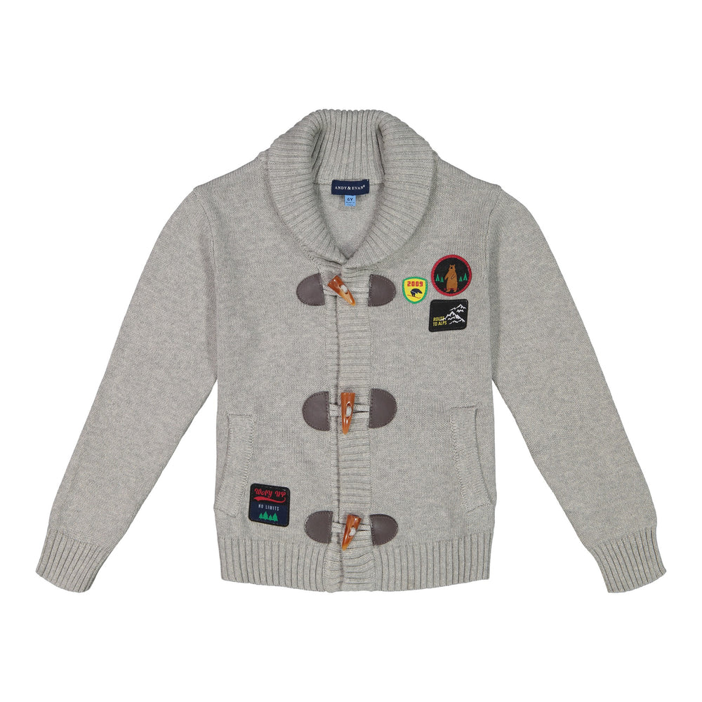 Patches Toggle Cardigan - Andy & Evan