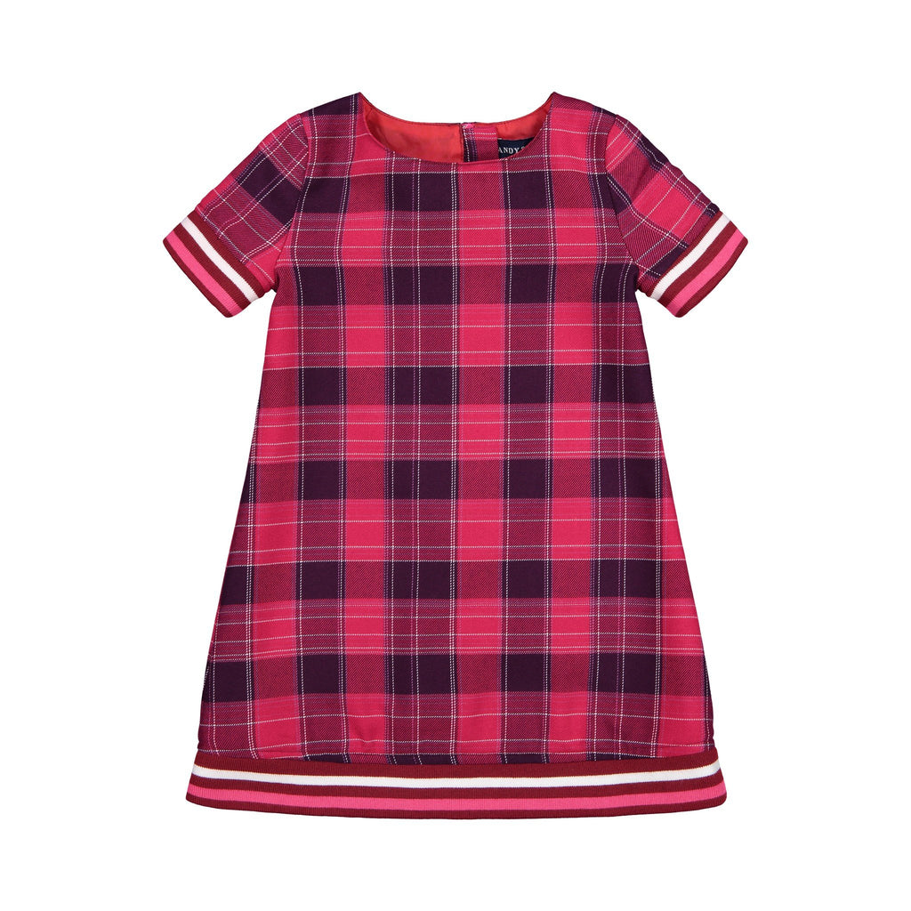 Maroon Plaid Dress - Andy & Evan