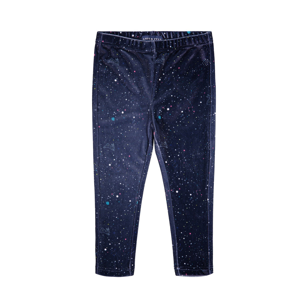 Navy Galaxy Velvet Legging - Andy & Evan