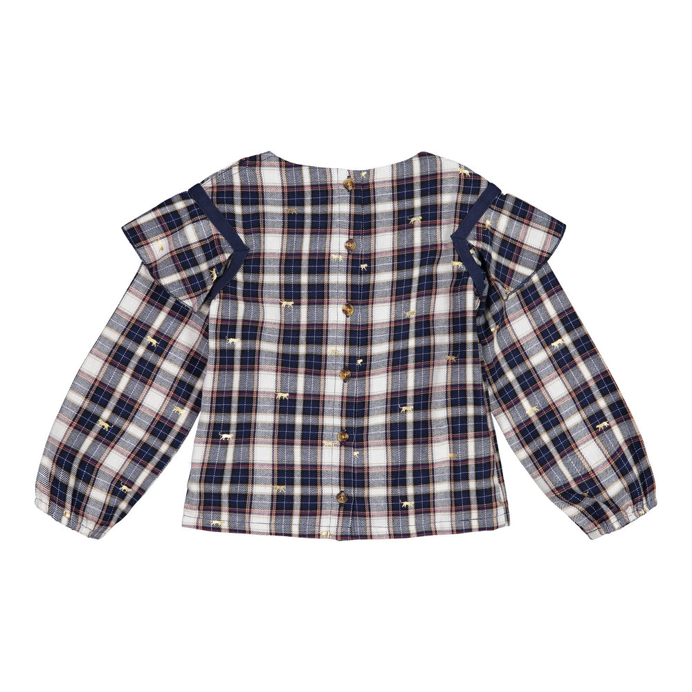 Plaid Ruffle Top - Andy & Evan