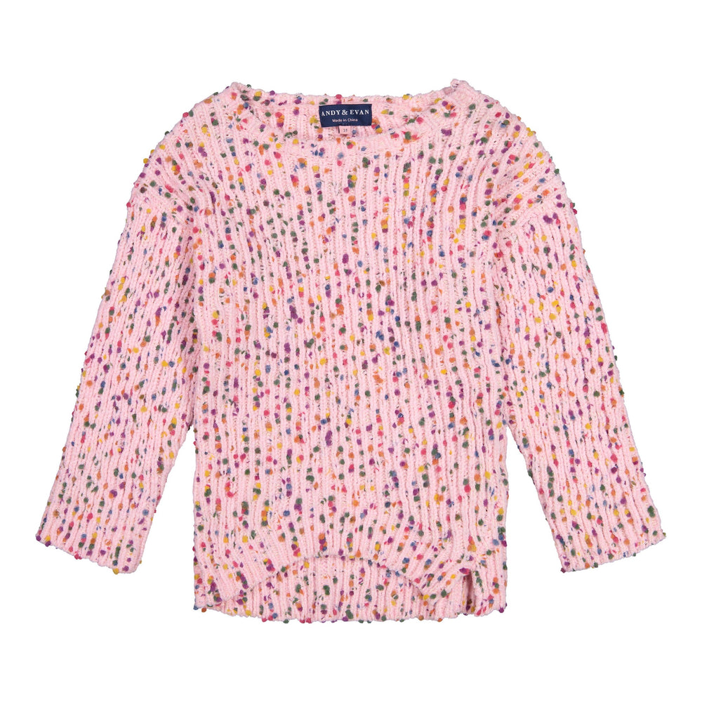 Pink Chenille Sweater - Andy & Evan