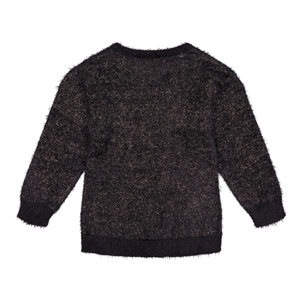 Black Lurex Feather Sweater - Andy & Evan
