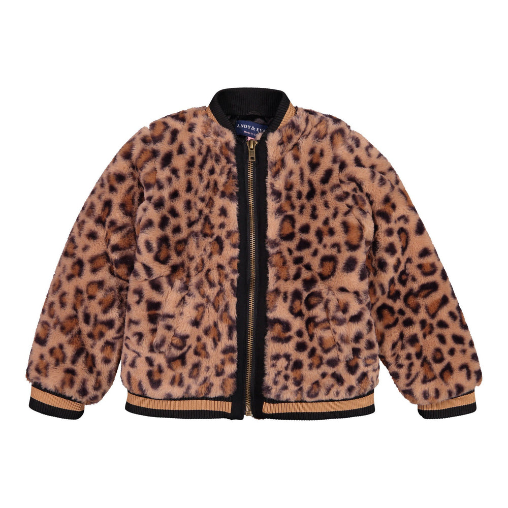 Leopard Faux Fur Jacket - Andy & Evan