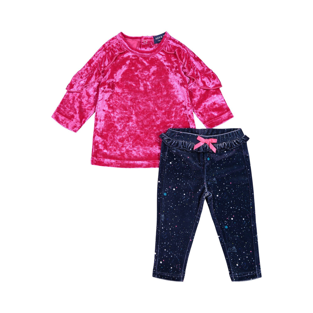 Velour Tee & Galaxy Legging Set - Andy & Evan