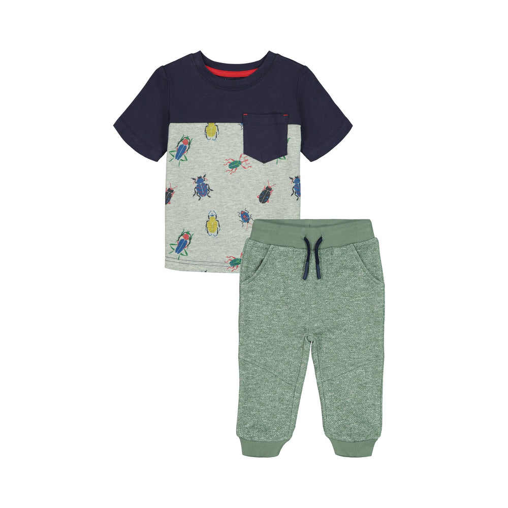 Grey Beetle Tee & Jogger Set - Andy & Evan