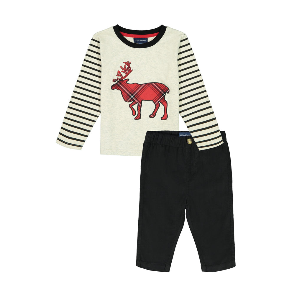 Reindeer Tee & Pant Set - Andy & Evan