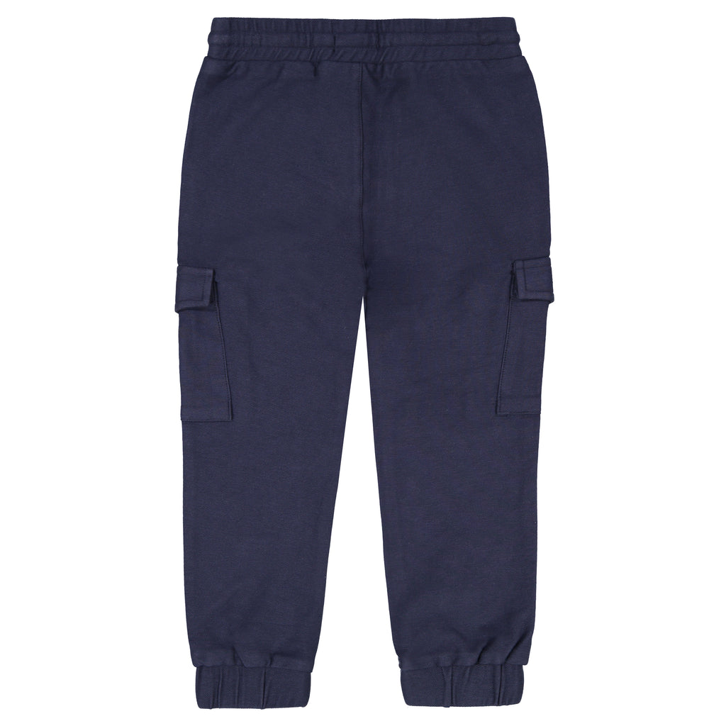 Navy Drawstring Joggers - Andy & Evan