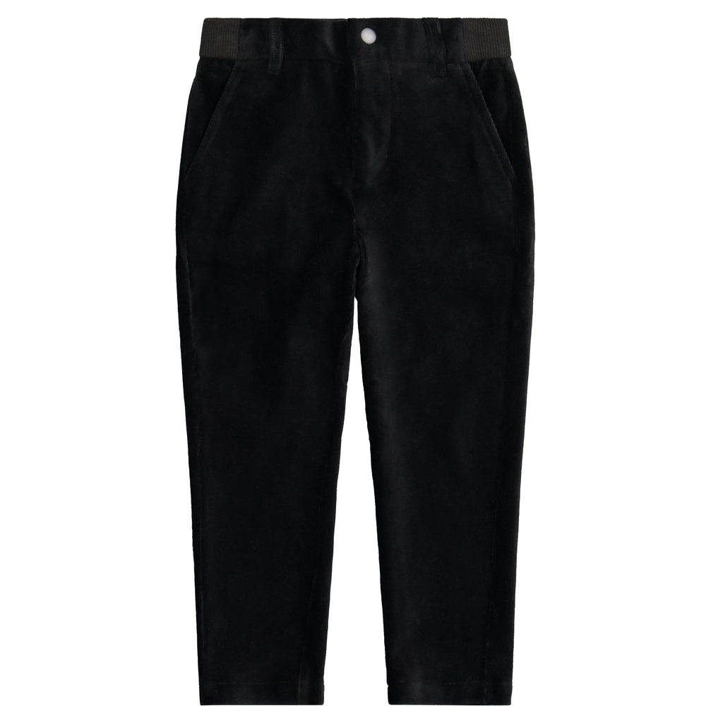 Boys Black Soft Corduroy Pants - Andy & Evan