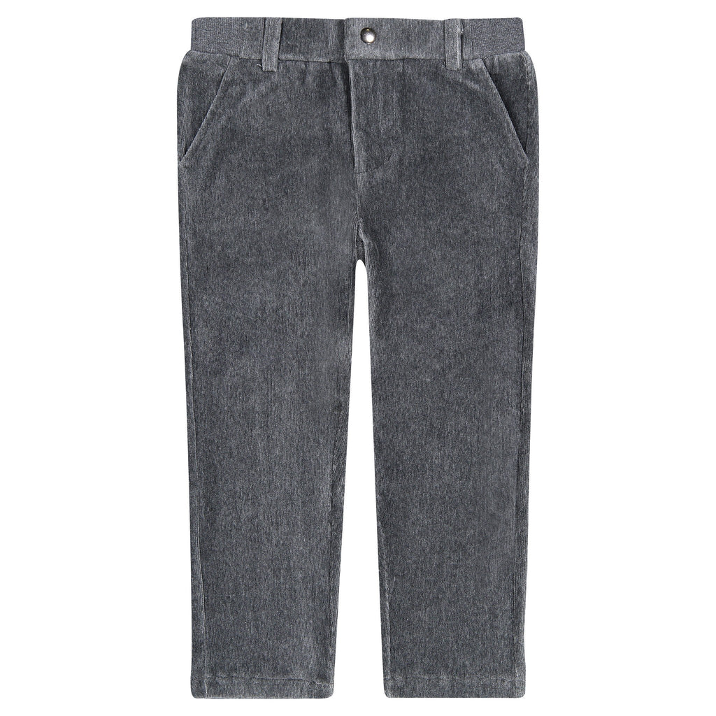 Boys Grey Soft Cord Pants - Andy & Evan