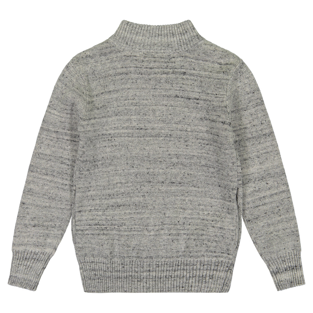 Boys Cable Knit Zip Sweater - Andy & Evan