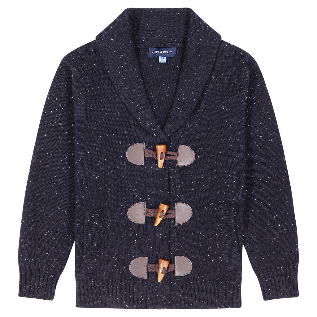 Boys Shawl Collar Toggle Cardigan - Andy & Evan