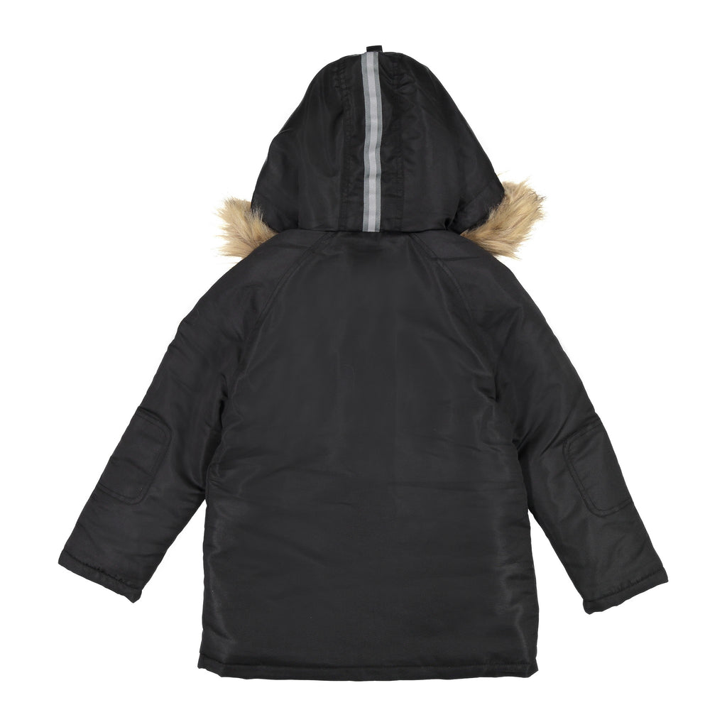 Boys Black Water Resistant Parka - Andy & Evan