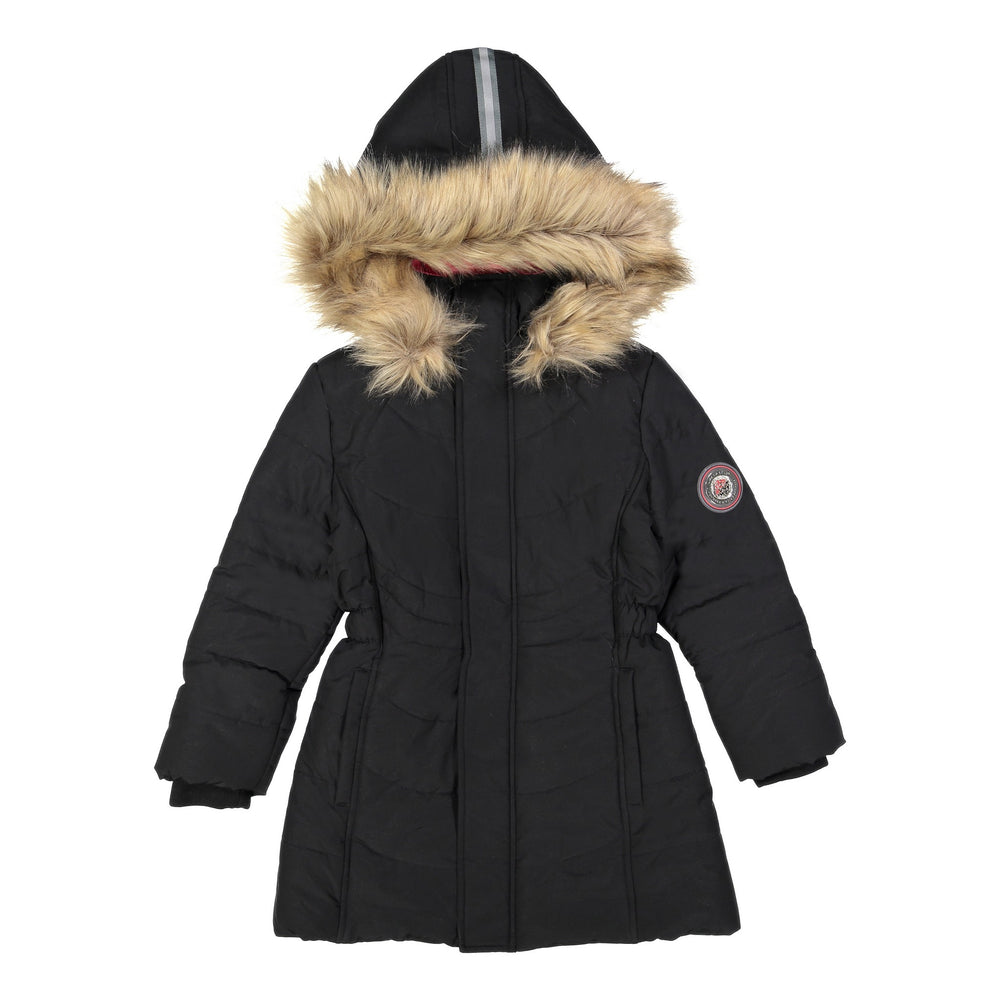 Girls Black Water Resistant Parka - Andy & Evan