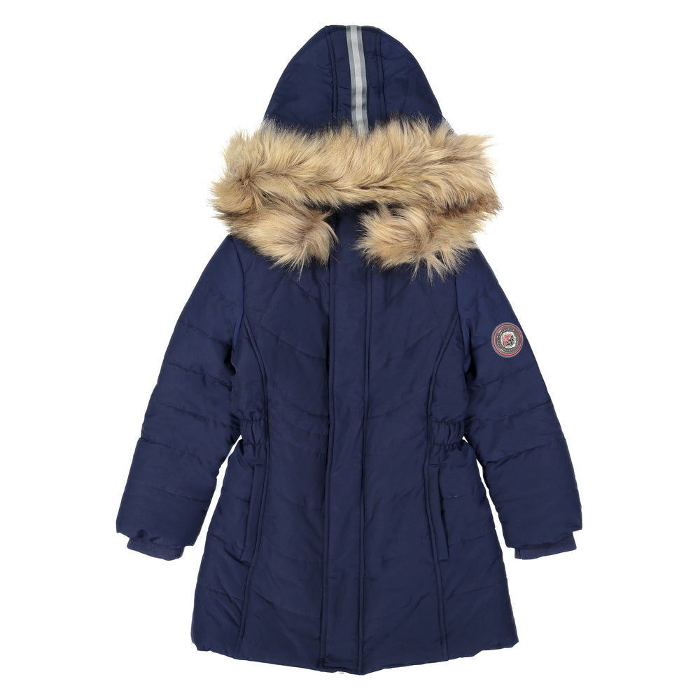 Girls Navy Water Resistant Parka Girls - Andy & Evan