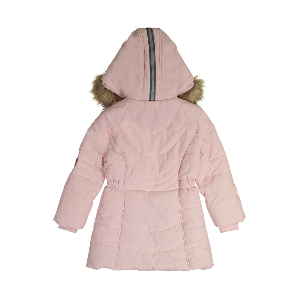 Girls Pink Water Resistant Parka Girls - Andy & Evan