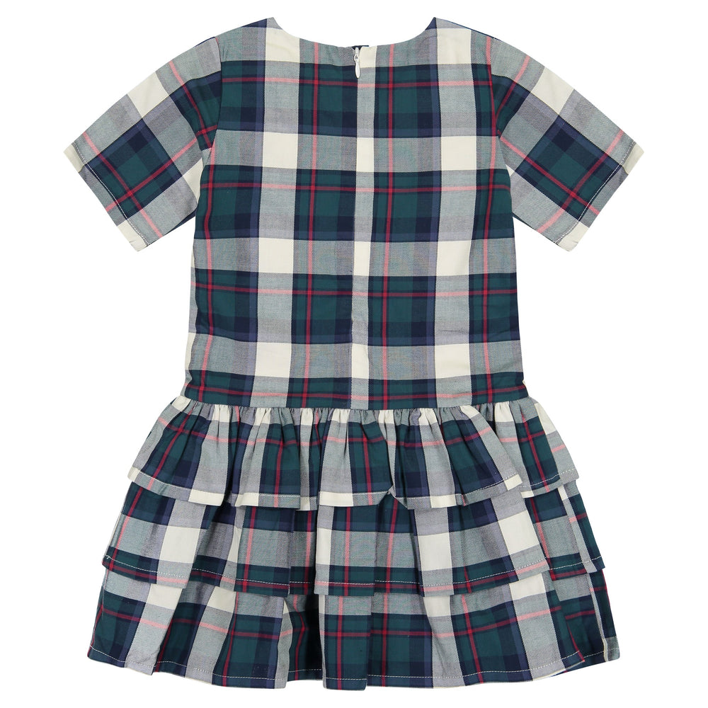 Girls Plaid Tiered Skirt Dress - Andy & Evan