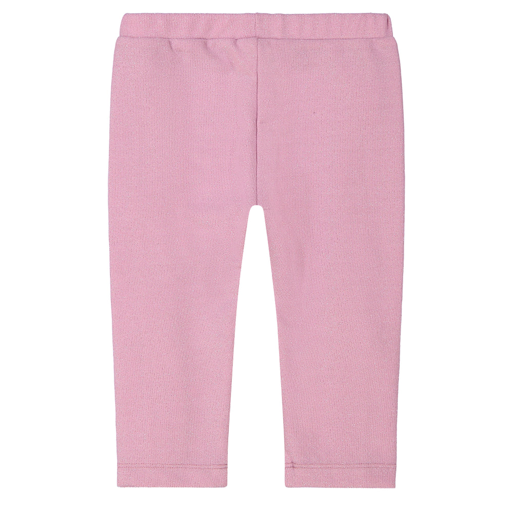 Baby Girls Shoulder Star Sweater With Pink Ruffled Pants Two Piece Set - Andy & Evan