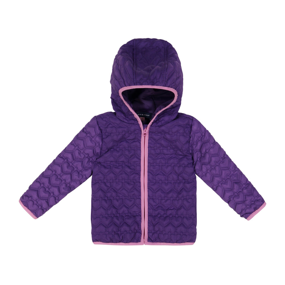 Infant Girls Purpled Hearted Peek-Through Jacket