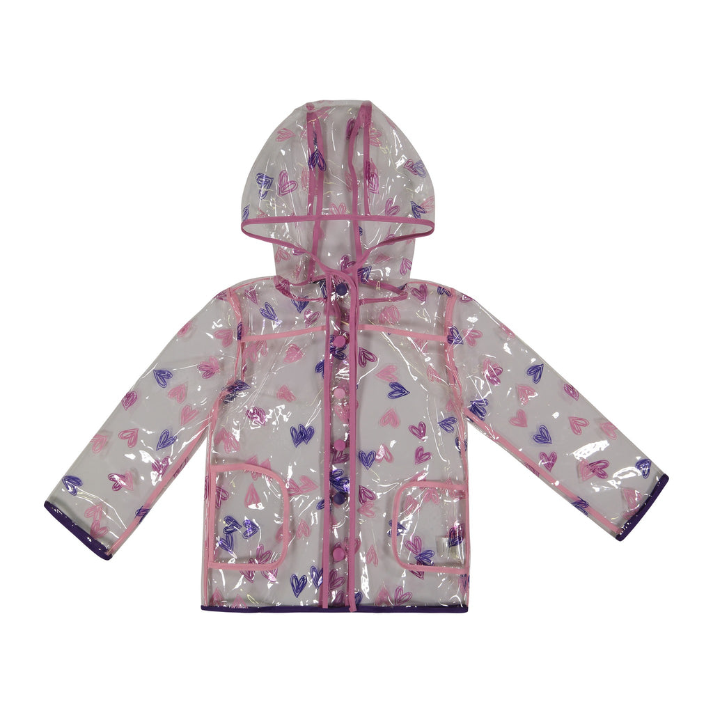 Infant Girls Purpled Hearted Peek-Through Jacket - Andy & Evan