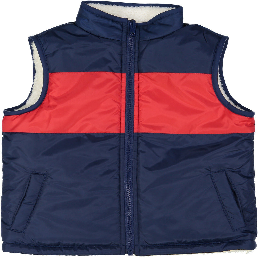 Color Blocked Reversible Puffer Vest - Andy & Evan