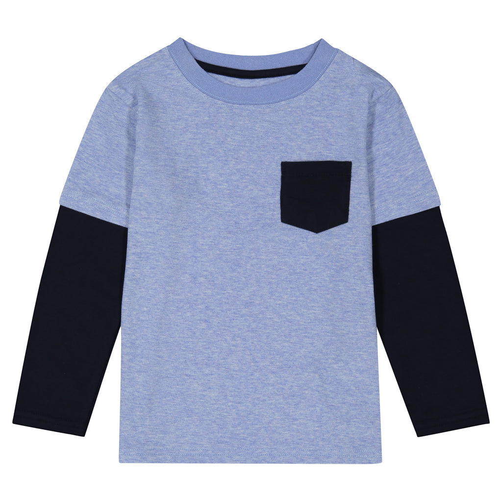Long Sleeve Two-Fer Tee - Andy & Evan