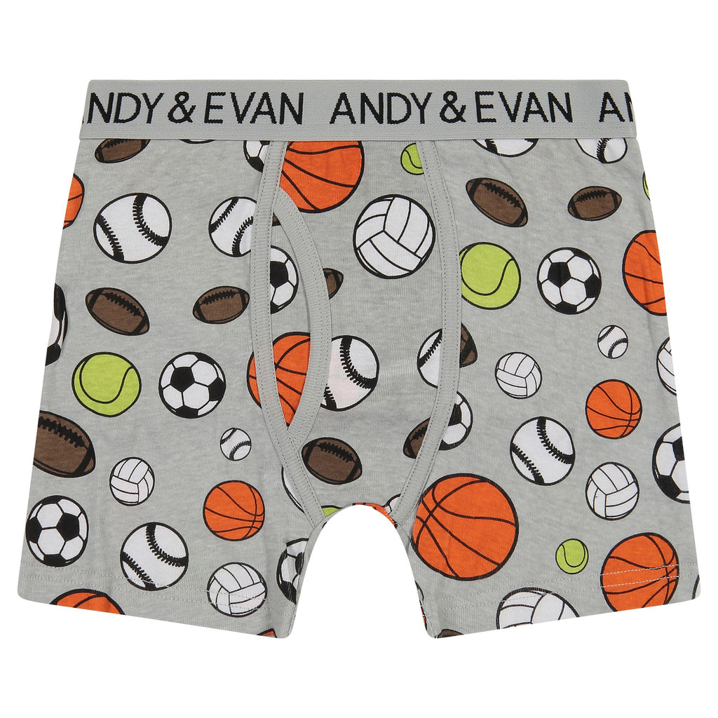 Boys Five Pack Boxer Briefs - Sports Pack - Andy & Evan