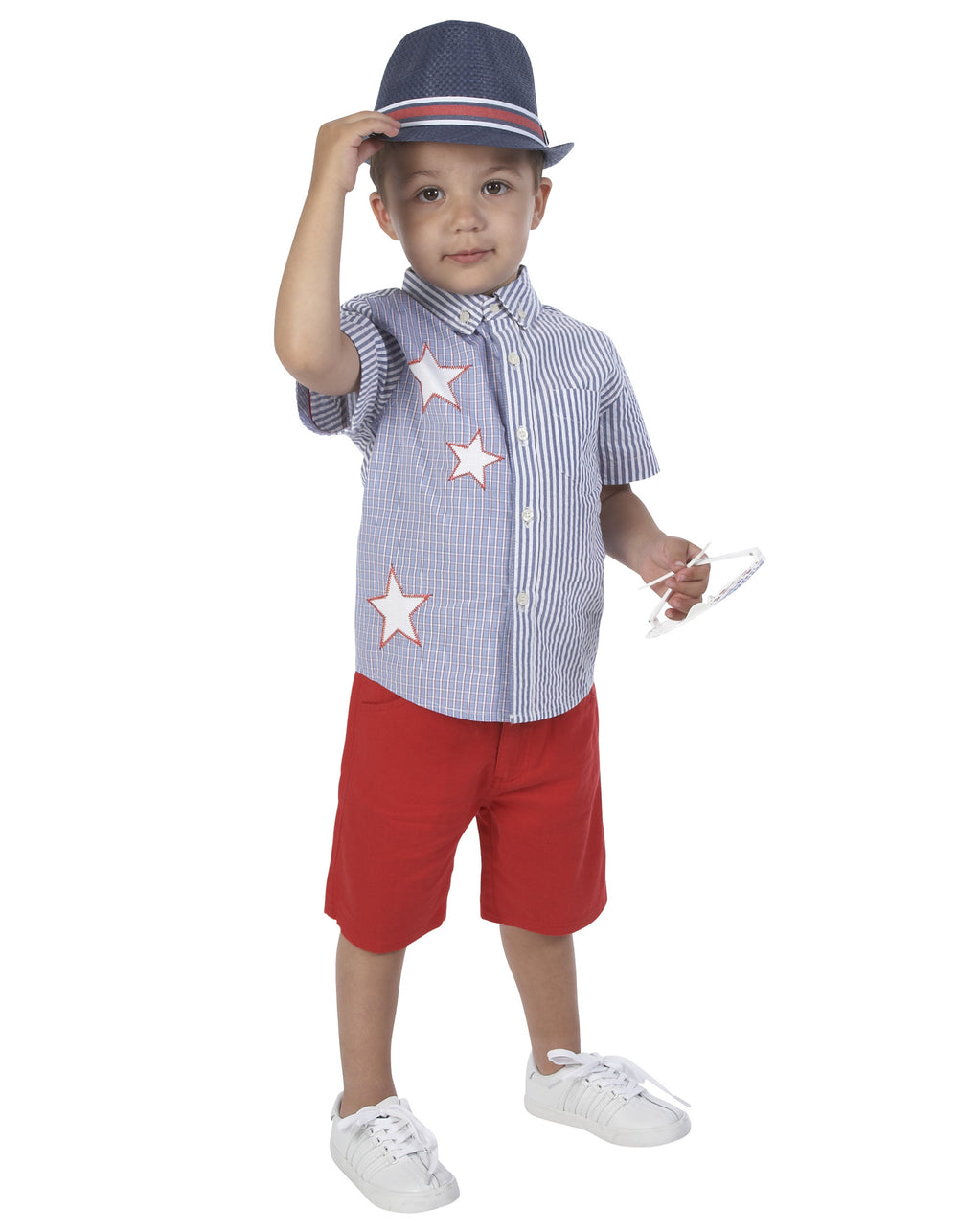 July Fourth Short Sleeve Button-down Shirt - Andy & Evan