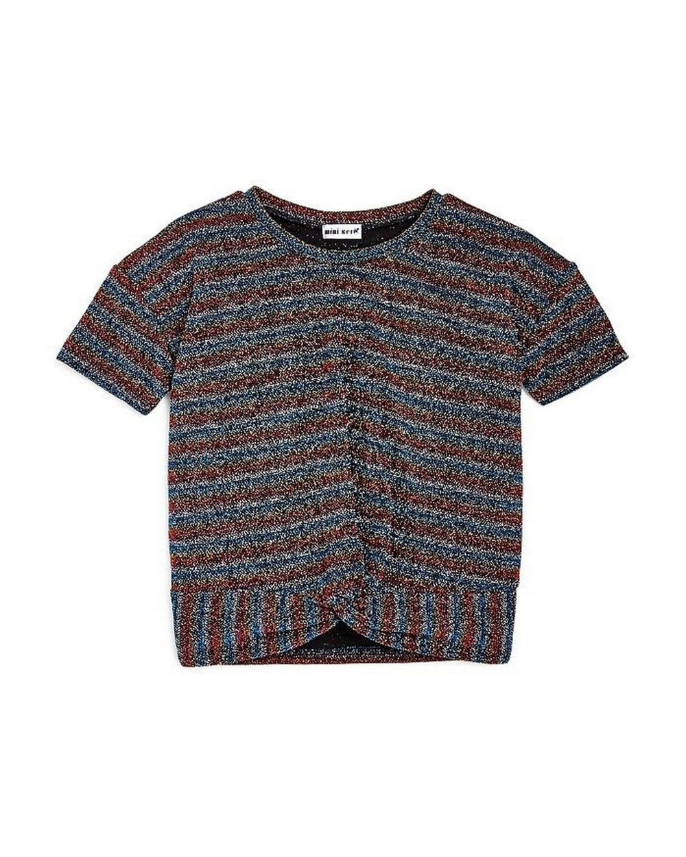 Girls Metallic Stripe Tee - Andy & Evan