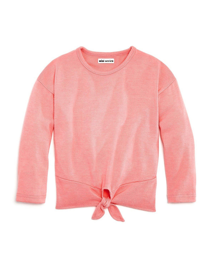 Girls Tie Front Sweater - Andy & Evan