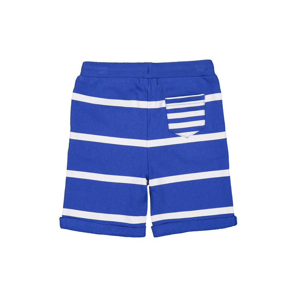 Boy's Navy Striped Sunny Day Short - Andy & Evan
