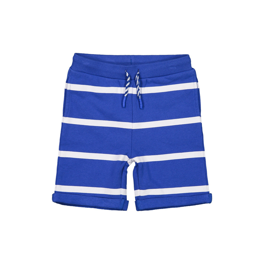 Boys Navy Striped Sunny Day Short - Andy & Evan