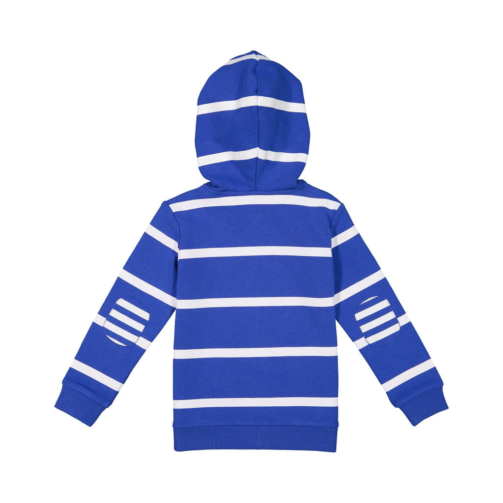 Boys Navy Striped Sunny Day Hoodie - Andy & Evan