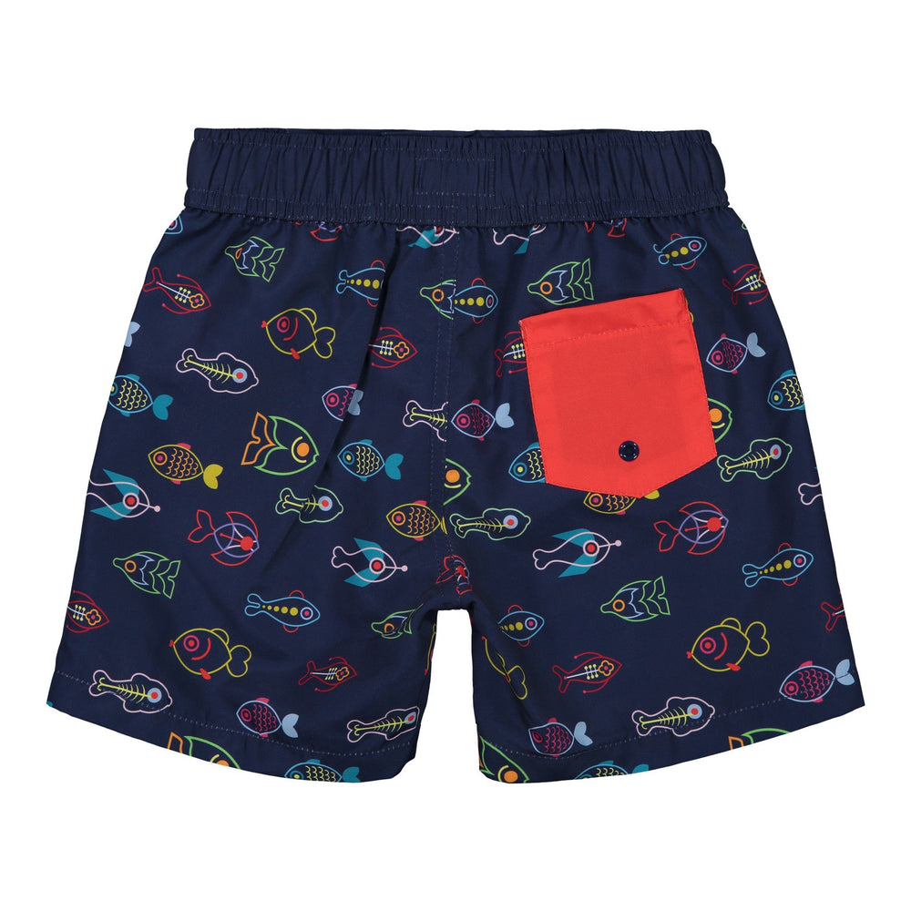 Boy's  Neon Fish Swim Trunk - Andy & Evan