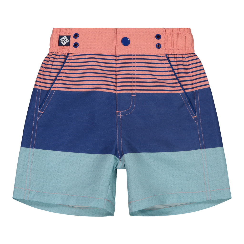 Boy's  Colorblocked Swim Trunk - Andy & Evan