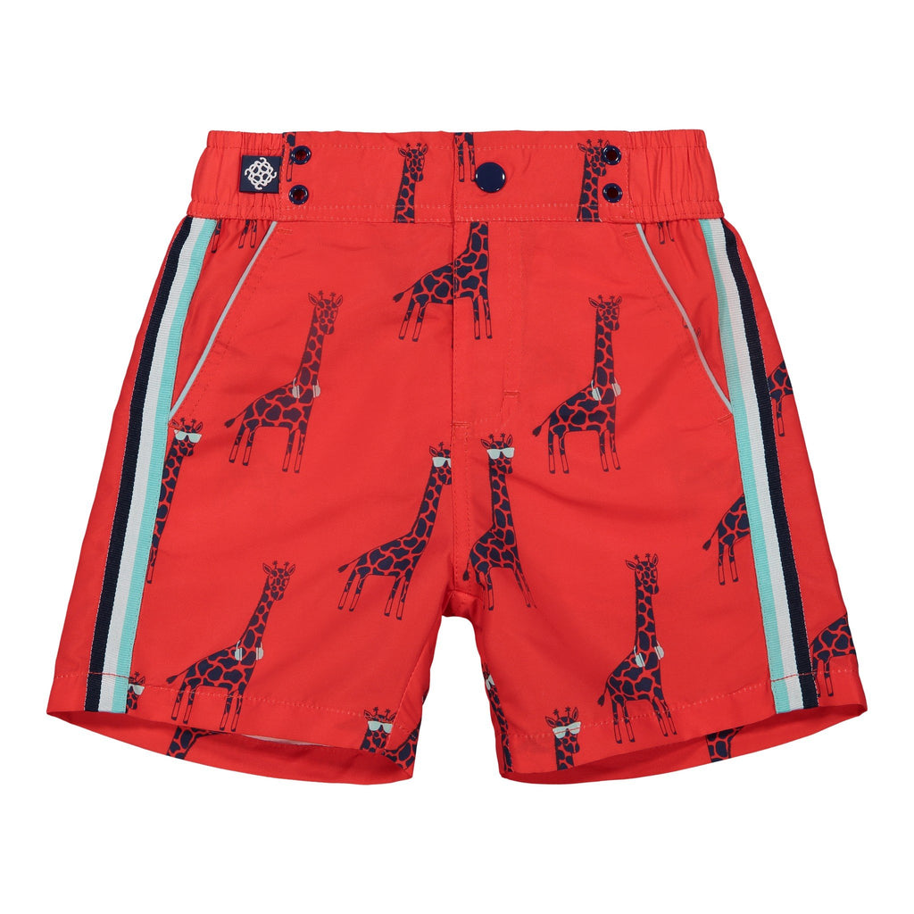 Boy's  Cool Giraffe Swim Trunk - Andy & Evan