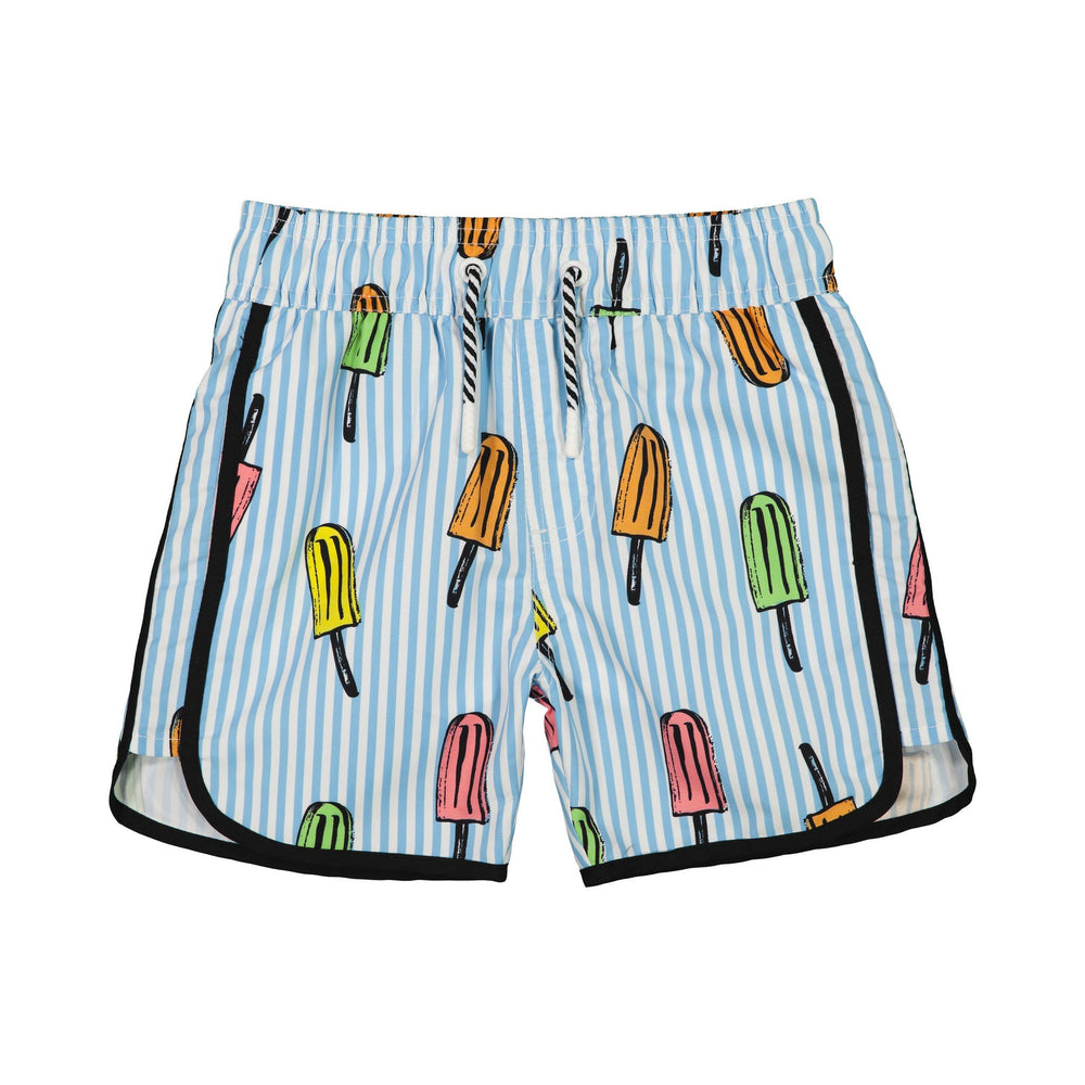 Boy's Striped Popsicle Swim Trunk - Andy & Evan