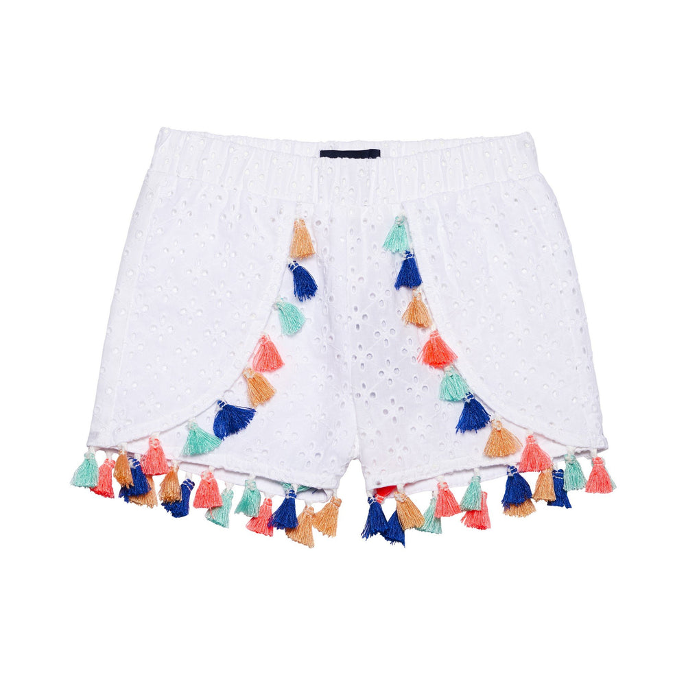 Girl's Tassled Eyelet Short - Andy & Evan