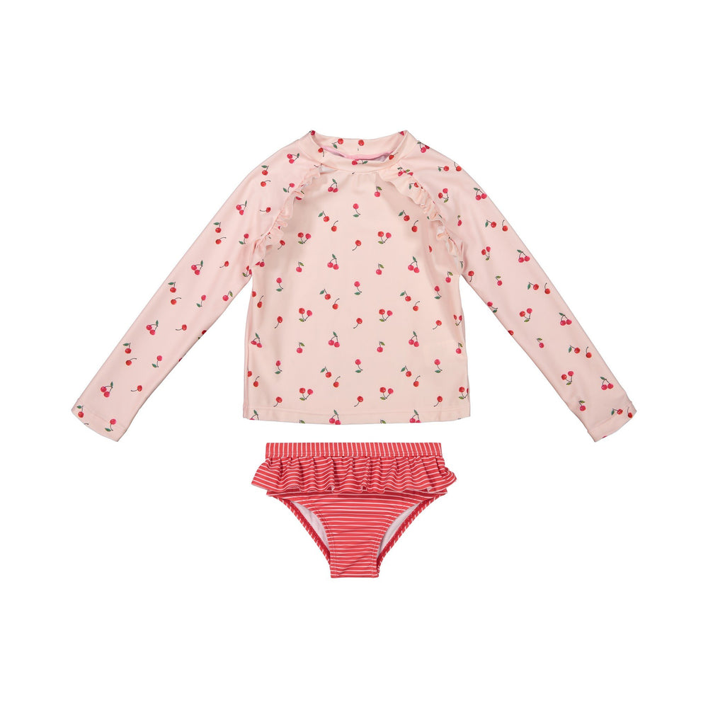 Infant Girls Cherry Rashgaurd Two-Piece Set - Andy & Evan
