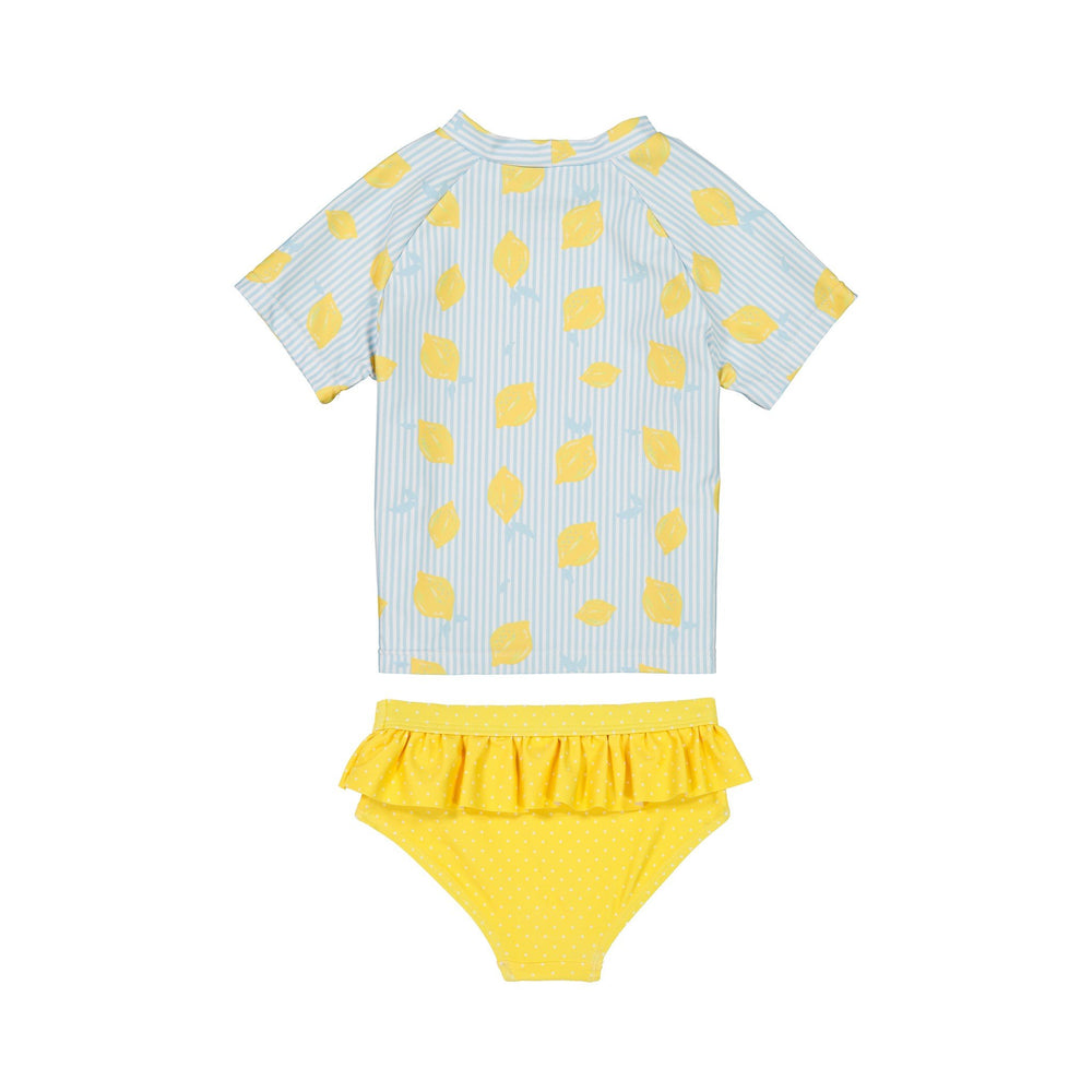 Girl's Lemon Rashgaurd Two-Piece Set - Andy & Evan