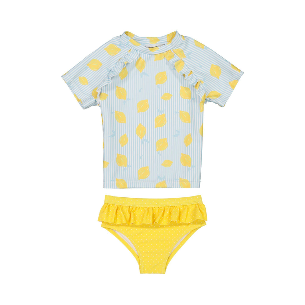 Girls Lemon Rashgaurd Two-Piece Set - Andy & Evan