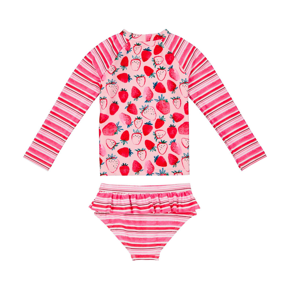 Girl's Strawberry Rashgaurd Two-Piece Set - Andy & Evan