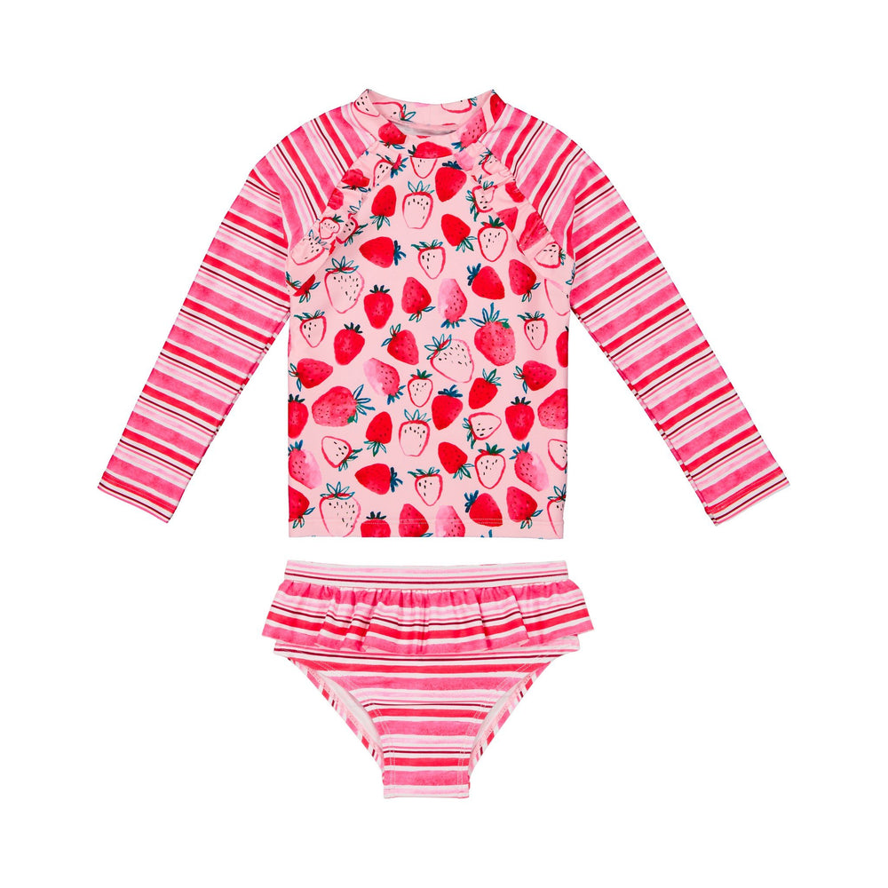 Infant Girls Strawberry Rashgaurd Two-Piece Set - Andy & Evan