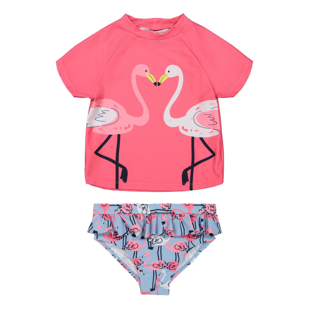 Infant Girls Flamingo Rashgaurd Two-Piece Set - Andy & Evan