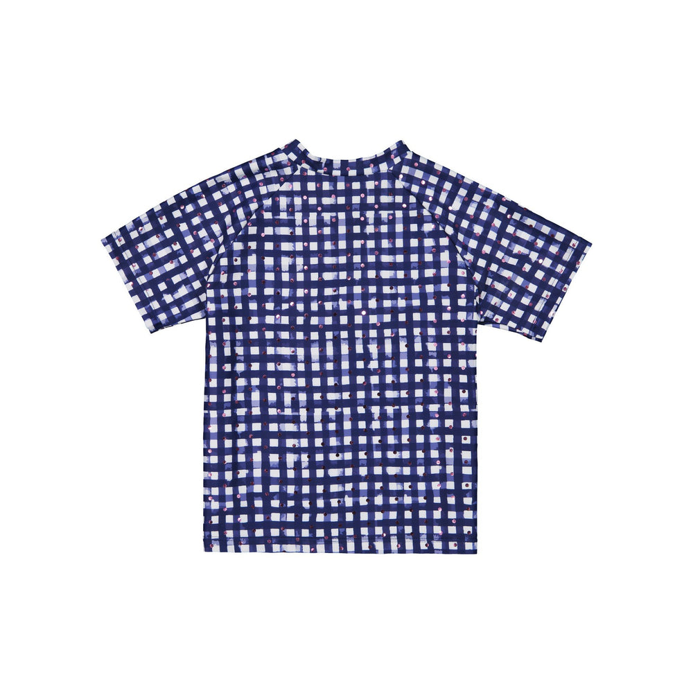 Girl's Gingham Rashgaurd Two-Piece Set - Andy & Evan