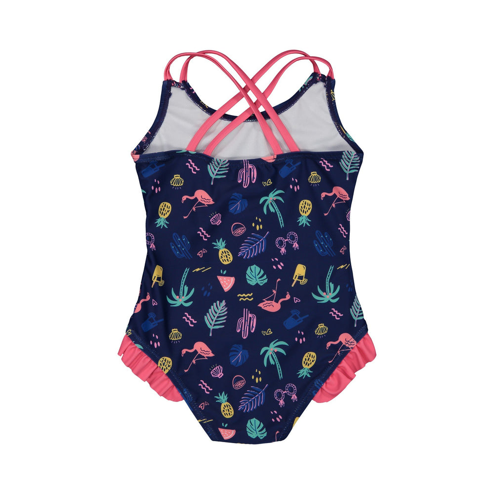 Girl's Neon Summer Vibes Swimsuit - Andy & Evan